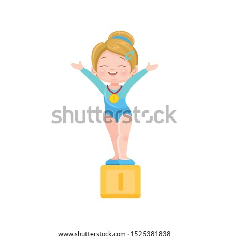 vector icon of cute blond
