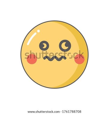 vector icon of dizz emoji in circle shape