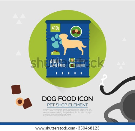 vector icon of dog dry food