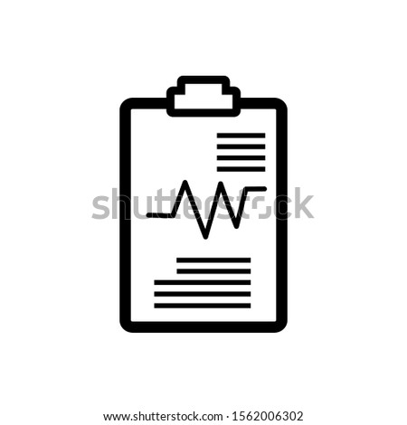 Vector icon of experimental results with a white background