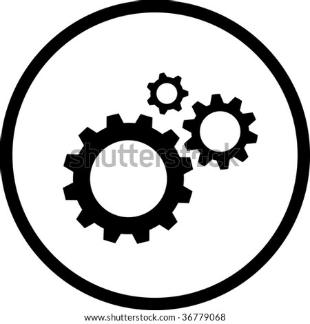 Vector icon of gears