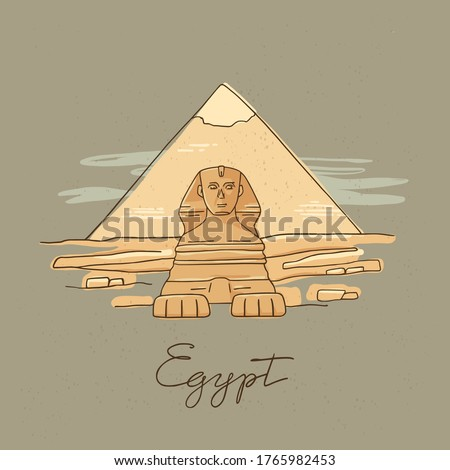 vector icon of great sphinx of