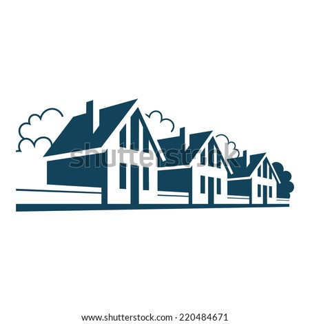 vector icon of houses logo