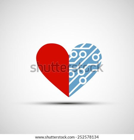 vector icon of human heart and