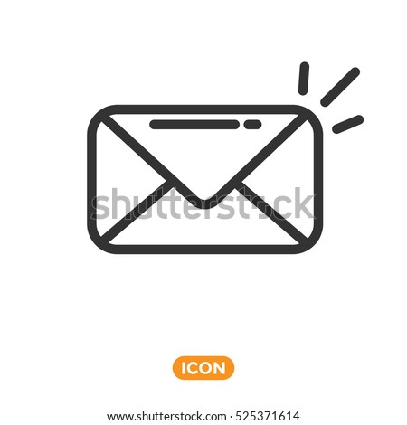 Vector Icon of Mail. New mail Icon