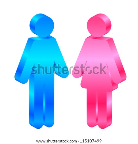 vector icon of man and woman