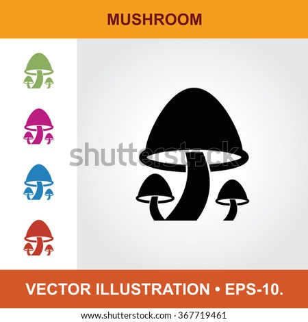 vector icon of mushroom with