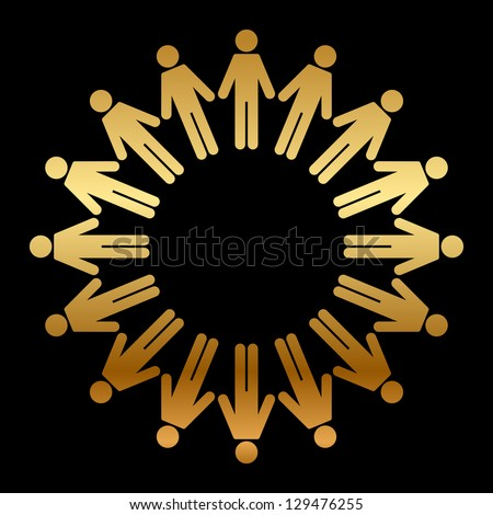 Vector icon of people standing in a circle