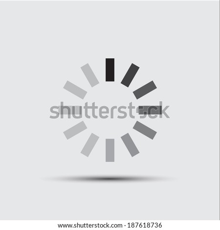 Vector icon of reload button  - stock vector
