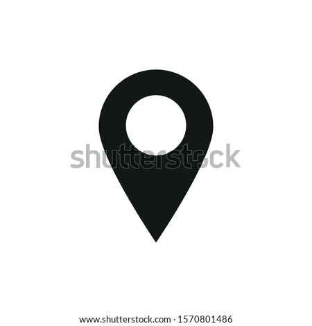 vector icon of simple forms of point of location