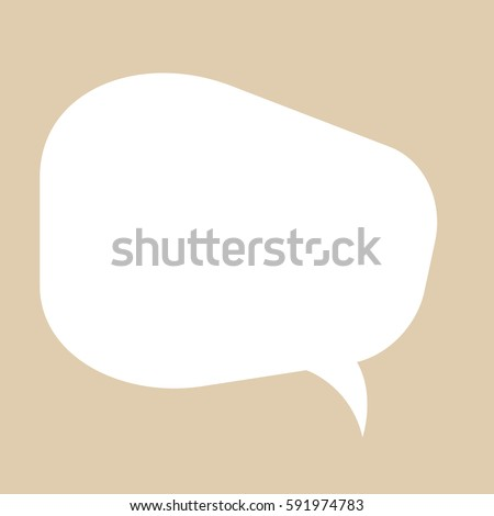 Vector icon of simple speech bubble