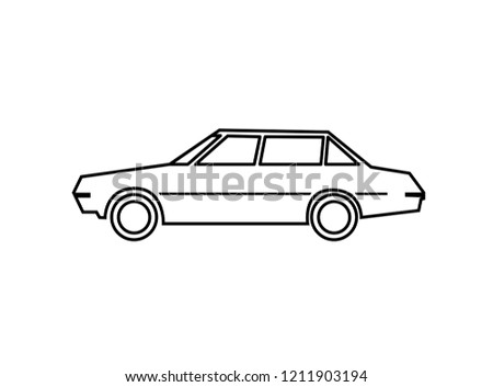Vector Icon Old Car Outlines