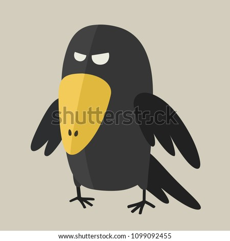 vector icon ominous black raven