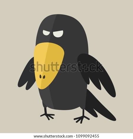 vector icon ominous black raven