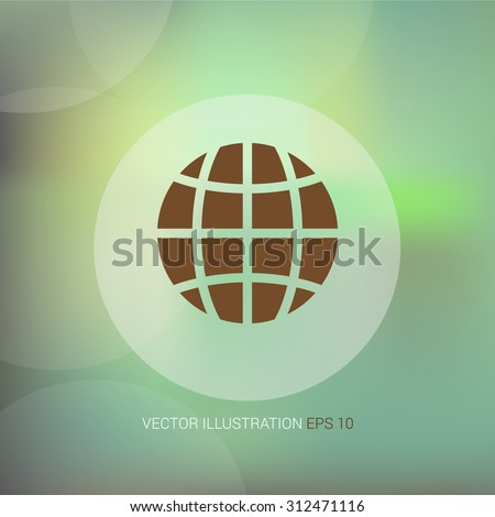 Vector icon on soft abstract background with circle
