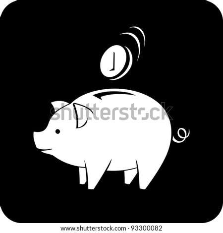 Vector icon - Piggy bank