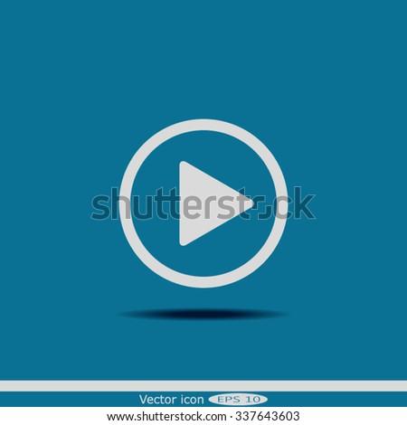 Vector icon Play button #337643603