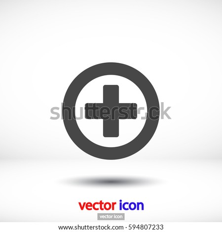 vector icon  plus