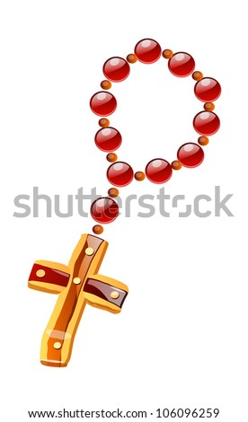 vector icon rosary