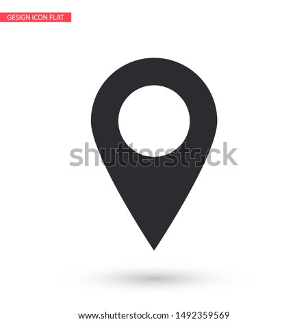 Vector icon search map 10 EPS . Lorem Ipsum Illustration design