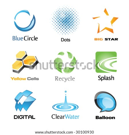 Vector Icon Set 1 - stock vector