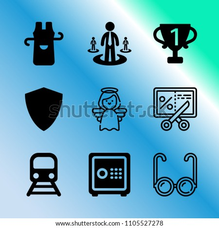 vector icon set about business
