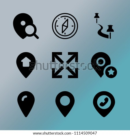 vector icon set about location