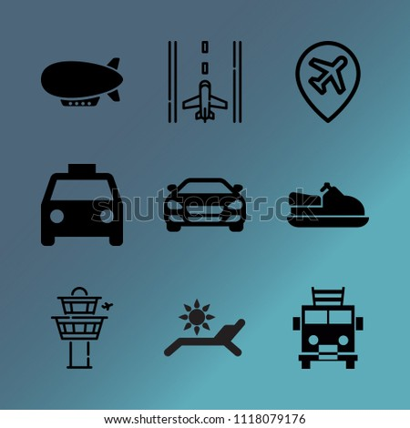 vector icon set about transport ...