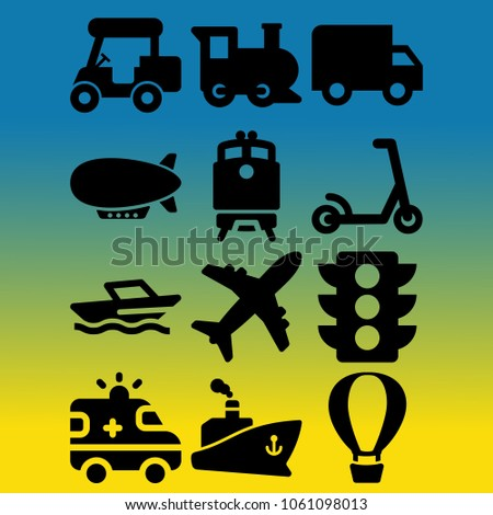 vector icon set about transport
