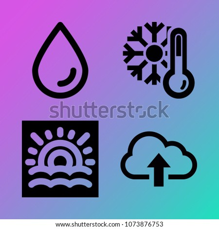 vector icon set about weather
