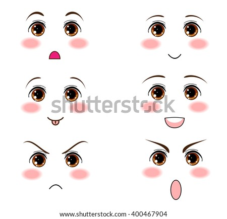 Anime Manga Hazel Eyes Kawaii Face Muzzle With Different