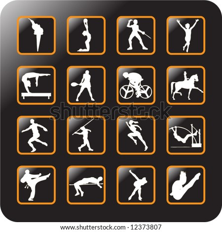 Vector Icon Set for sports -3