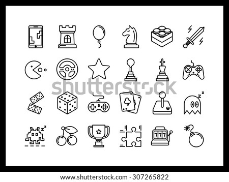 vector icon set in a modern
