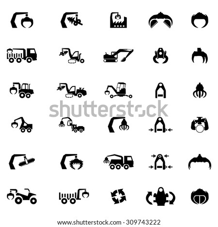 vector icon set of heavy