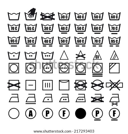 royalty free set with thin line washing icons and 368212181 stock