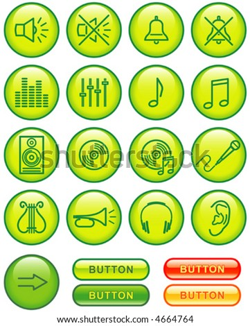Vector Icon Set - Sound You'll find more icons in my portfolio