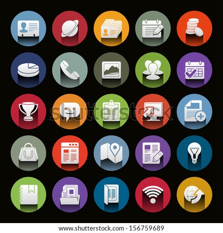 Vector icon set. Universal Outline Icons For Web and Mobile