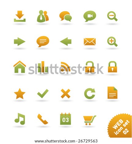 Vector icon set WEB [02]