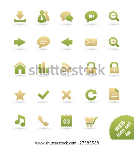 vector icon set web  04a