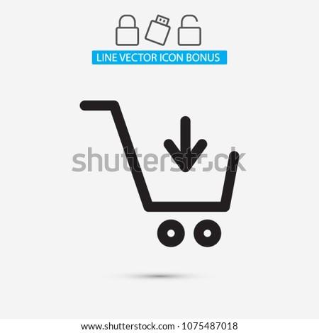 Vector icon shopping cart 10 EPS