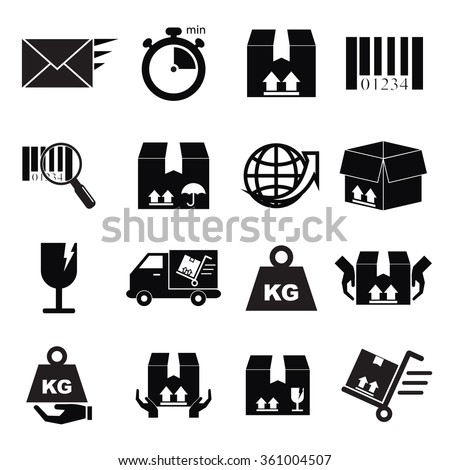Vector icon, the news was shipped across the world to be safe.