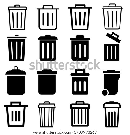 vector icon trash can. garbage illustration sign collection. waste logo. Stock photo ©