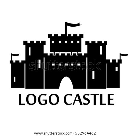 vector icon with lock, kingdom, fortress - silhouettes for design logos and branding Сток-фото ©