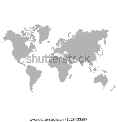vector icon with world map