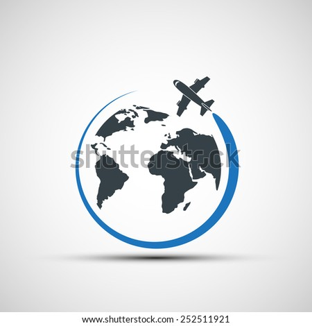 vector icons airplane fly