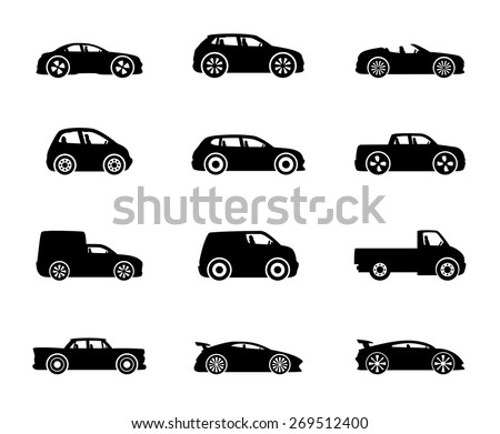 vector icons cars