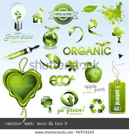 vector icons  eco   bio ii