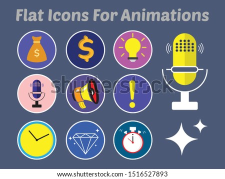 Vector Icons for 2D or Flat animation