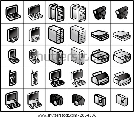 vector icons for network structure #computers,multimedia