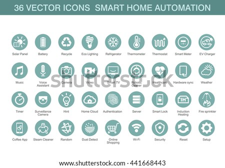 vector icons for smart home